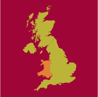 map of UK with wales highlighted