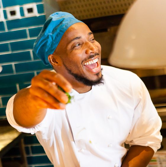 smiling young chef